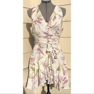 Dress Forum Floral Faux Wrap Dress New